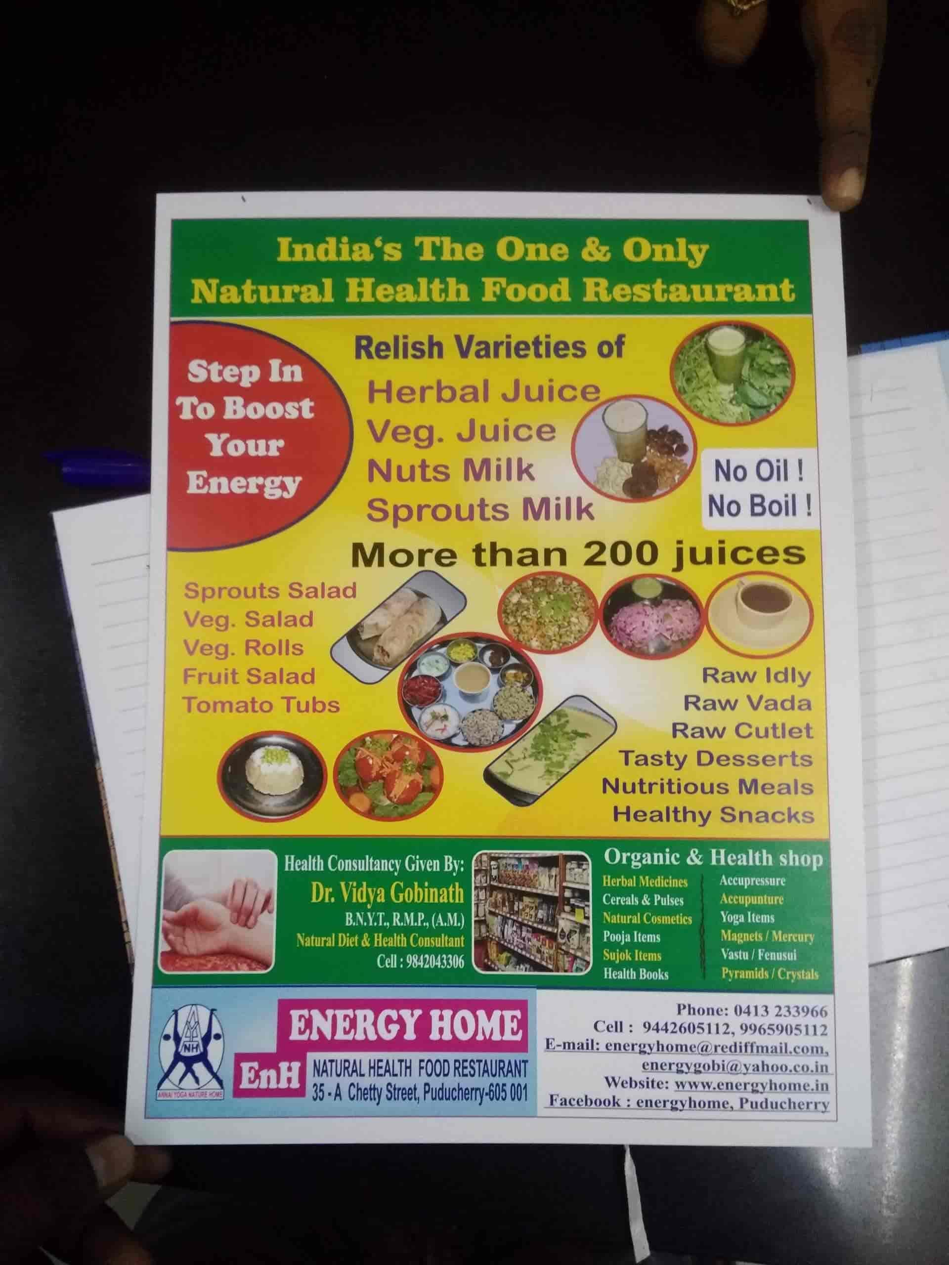 Energy Home Natural Health Food Restaurant & Health Shop