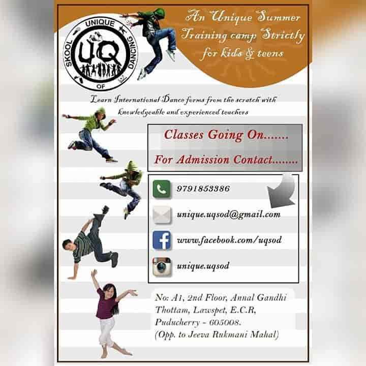 Unique Skool Of Dancing, Lawspet Pondicherry - Dance Classes