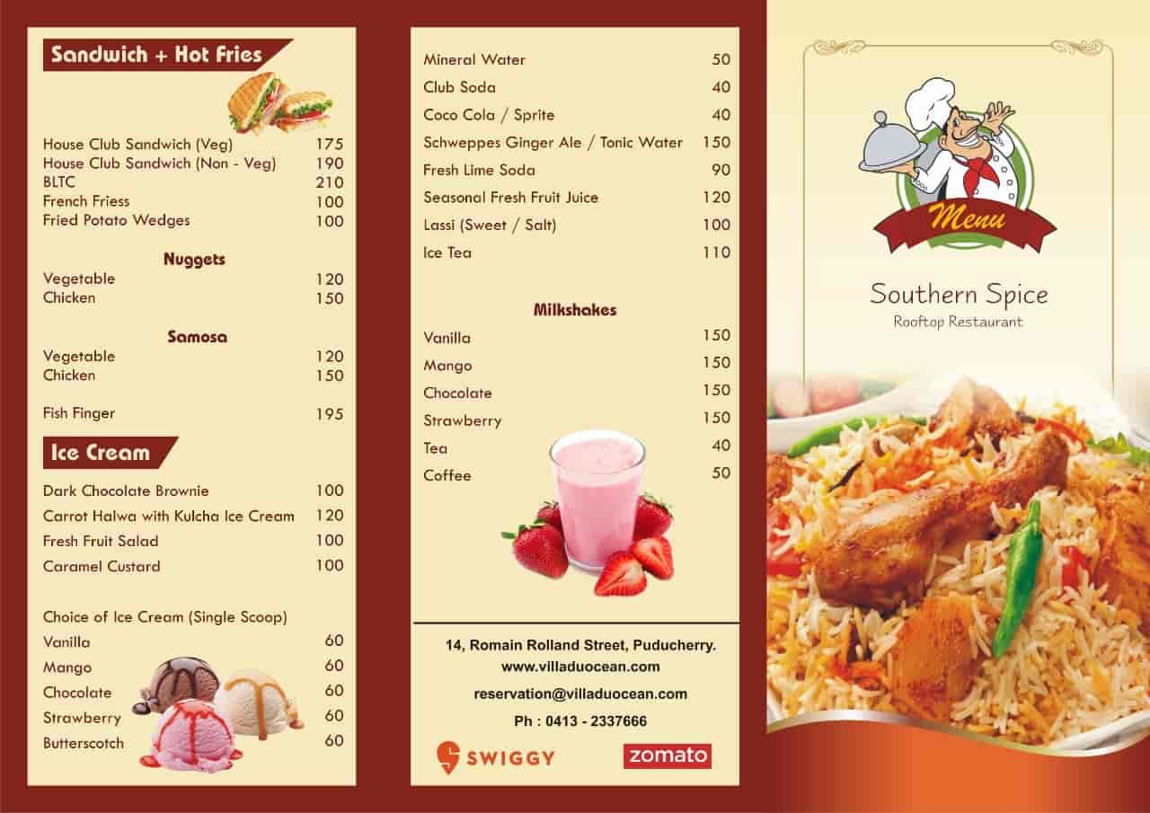 Southern Spices Restaurant, Pondicherry, Pondicherry