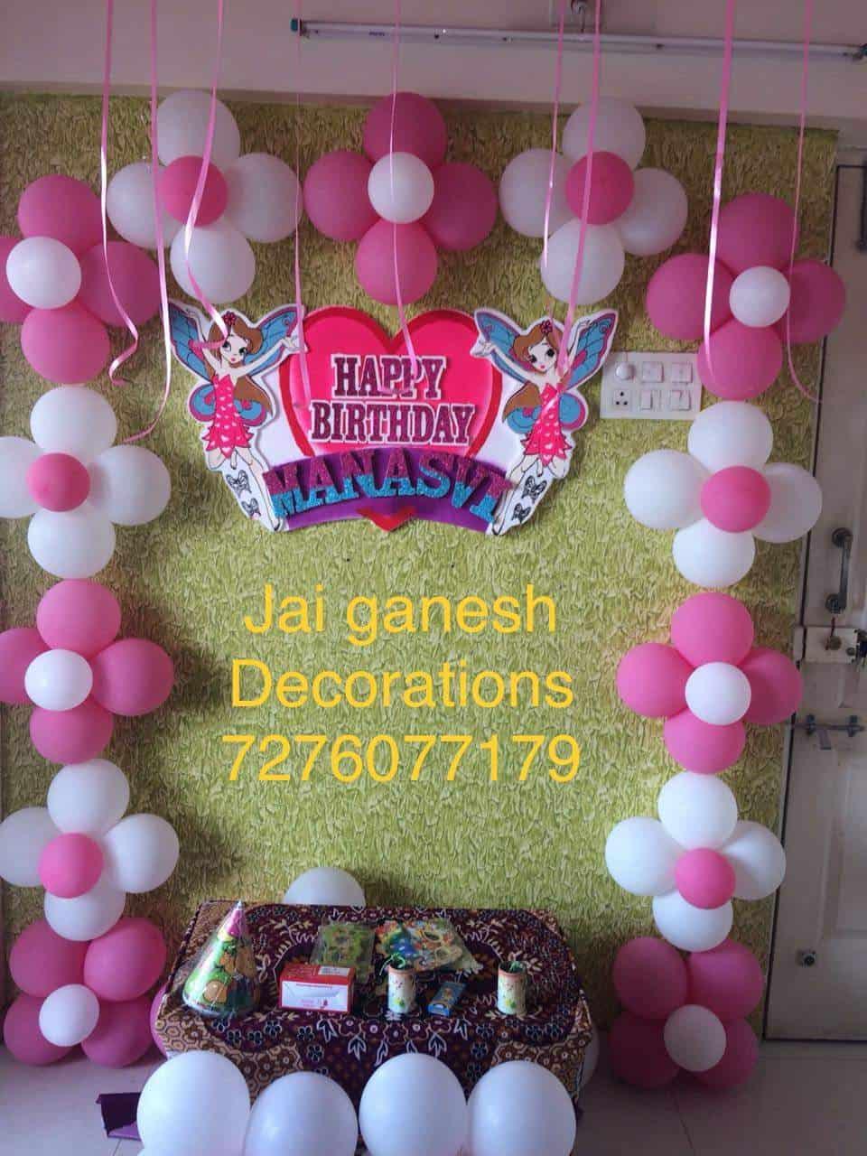 Jai Ganesh Balloons Decorators Wakad Jai Ganesha Decorations
