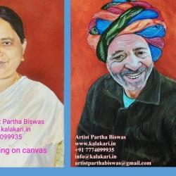 Realistic Portrait Canvas Painting Kalakari Dot In, Dapodi - Potrait