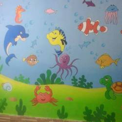 Cartoon Painting Artist For School Camp Wall Art Designers In