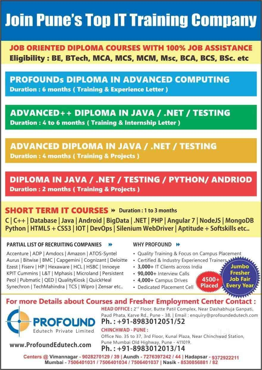 Profound Edutech, Chinchwad - Computer Training Institutes in Pune
