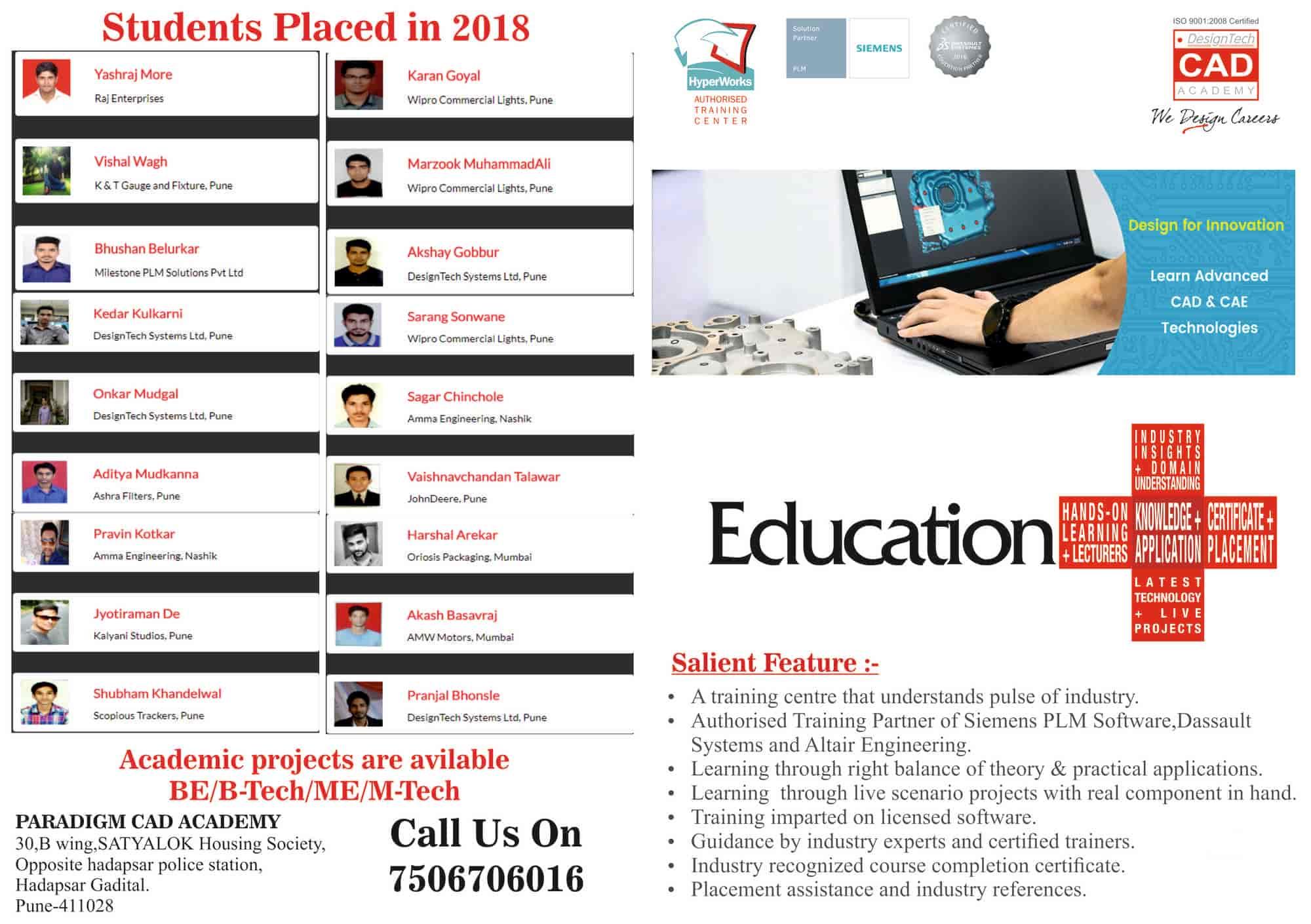 Paradigm CAD Academy, Hadapsar - Computer Training Institutes in