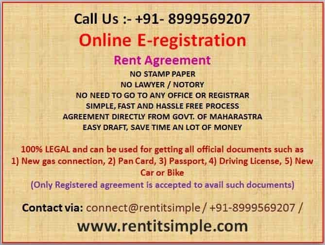 Rent Agreement Service Provider Baner Registration Of Leave
