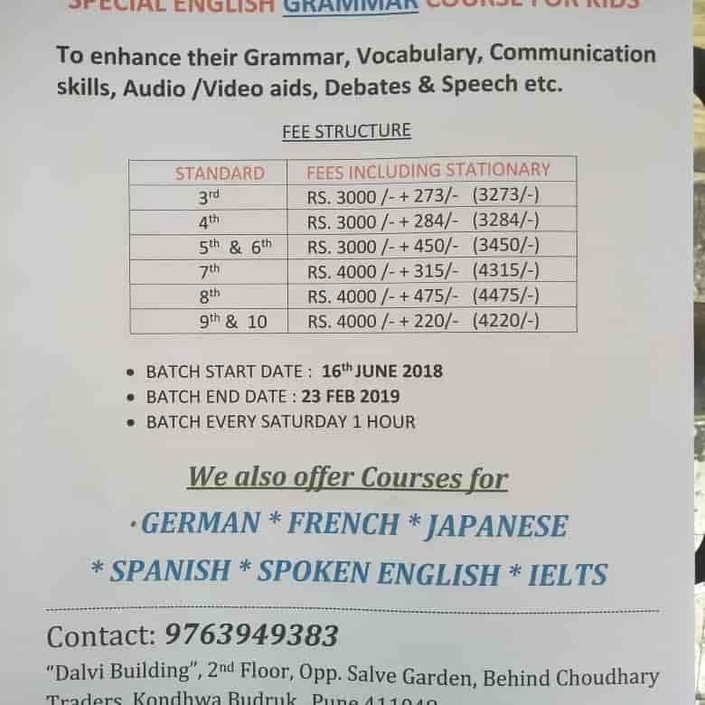 Suchitras Foreign Language Institute, Kondhwa Budruk