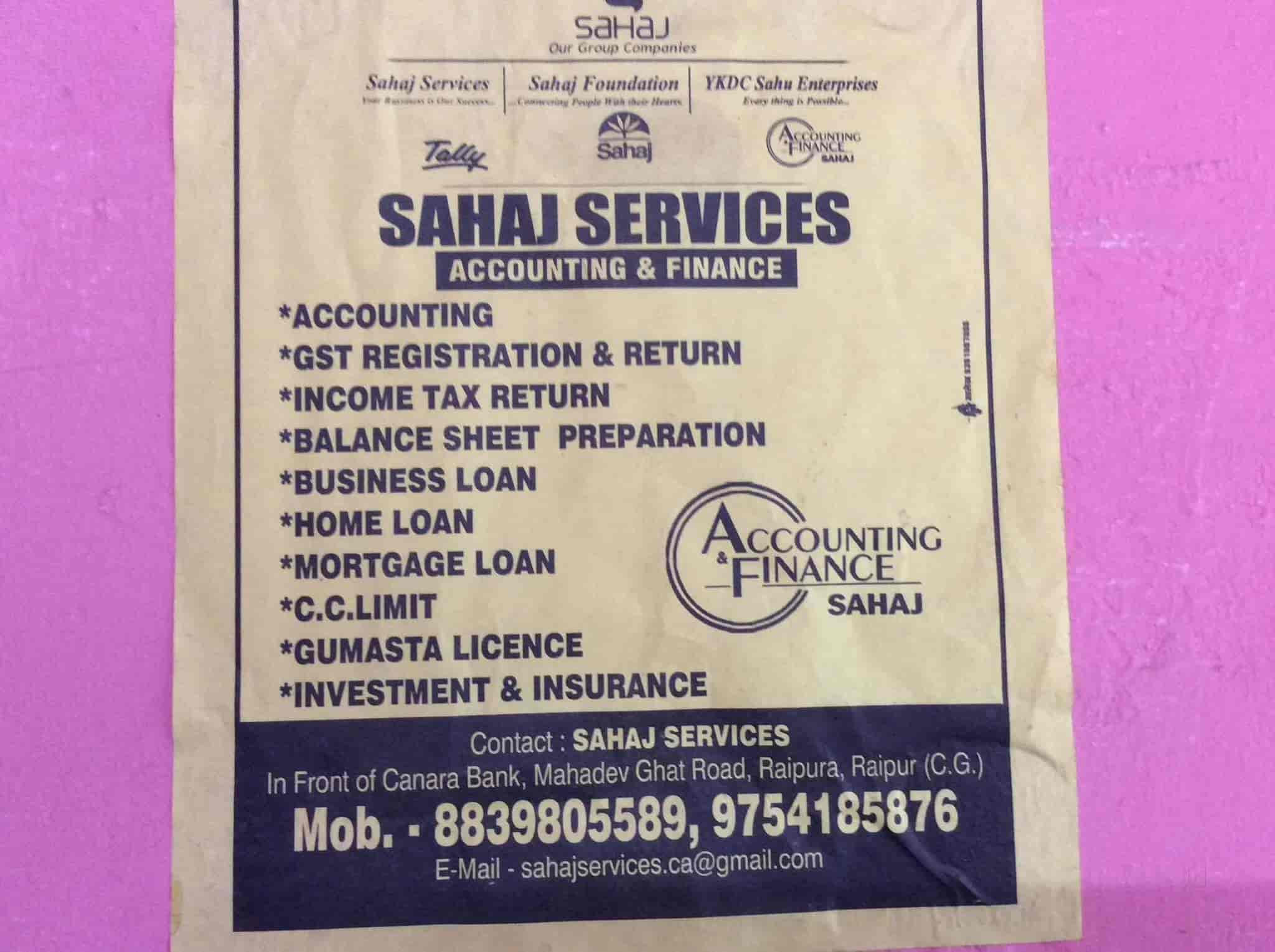 Sahaj Services, Sunder Nagar - Income Tax Consultants in