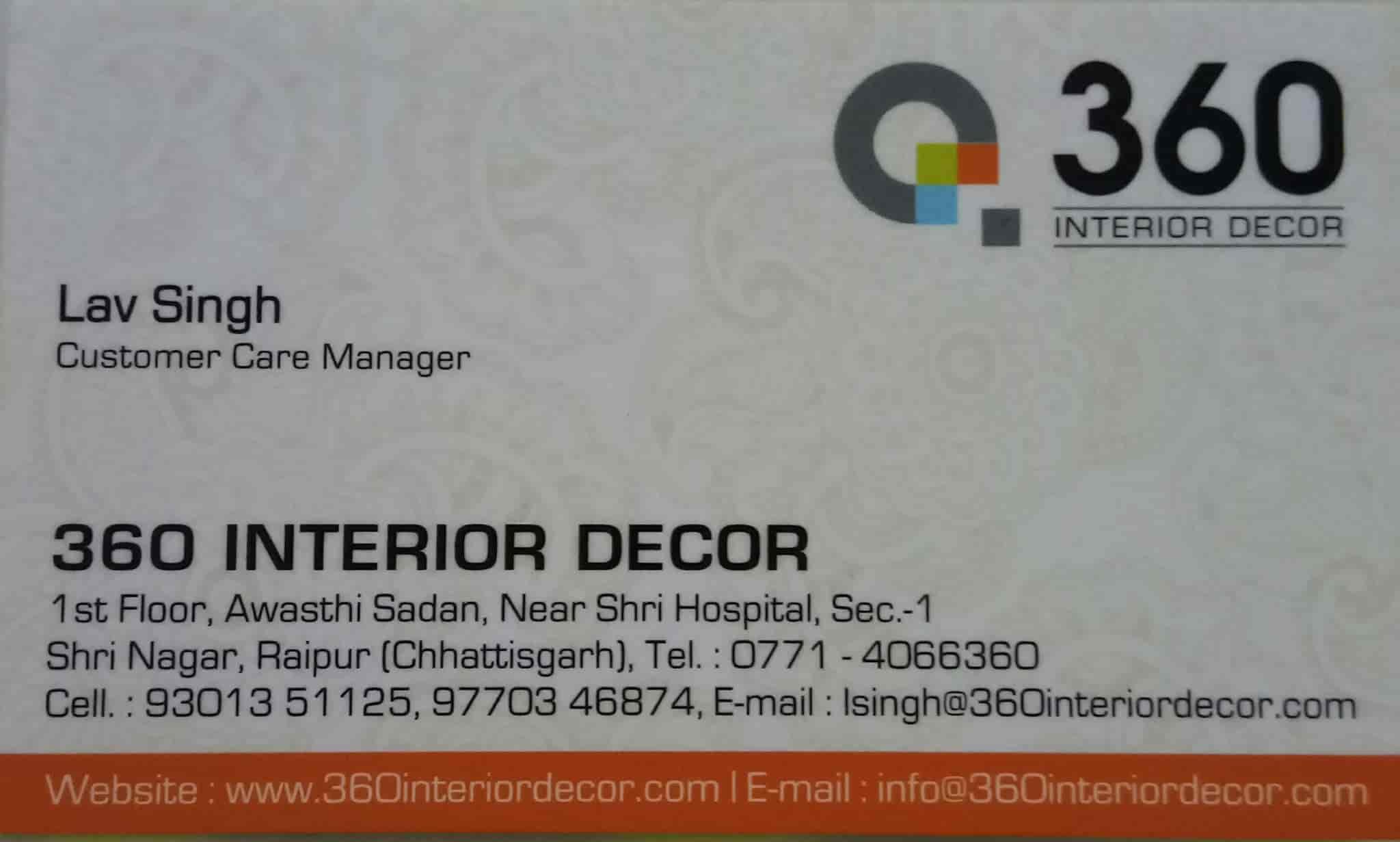 360 Interior Decor Photos, Khamtarai, Raipur-Chhattisgarh