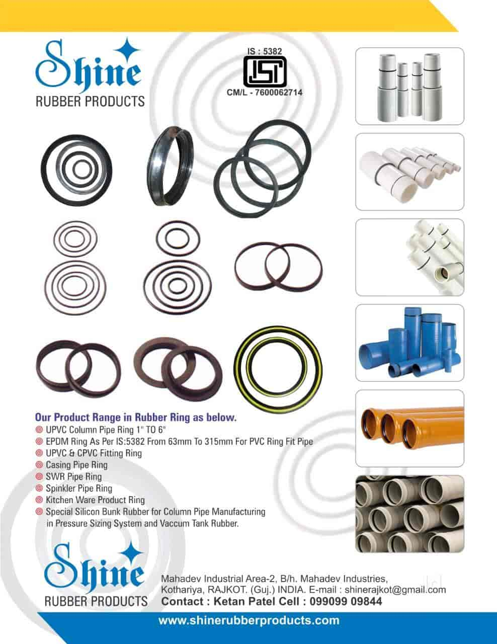 Shine Rubber Products, Kotharia - Epdm Rubber Manufacturers