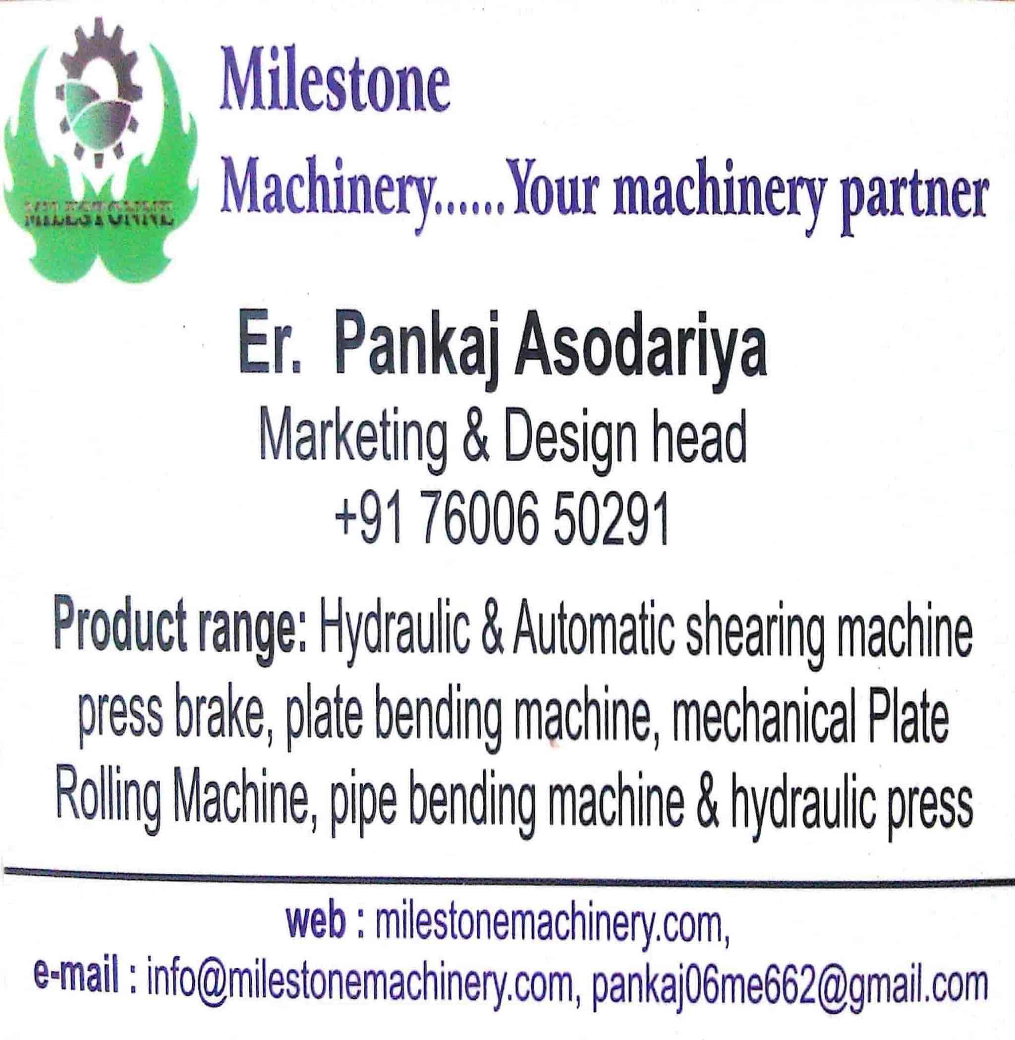 Milestone Machinery Photos, Rajkot City, Rajkot- Pictures