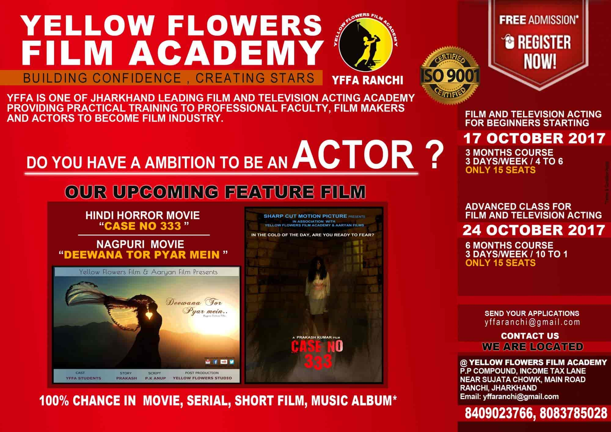 Yellow flower film academy photos argora ranchi pictures images yellow flower film academy photos argora ranchi acting classes mightylinksfo