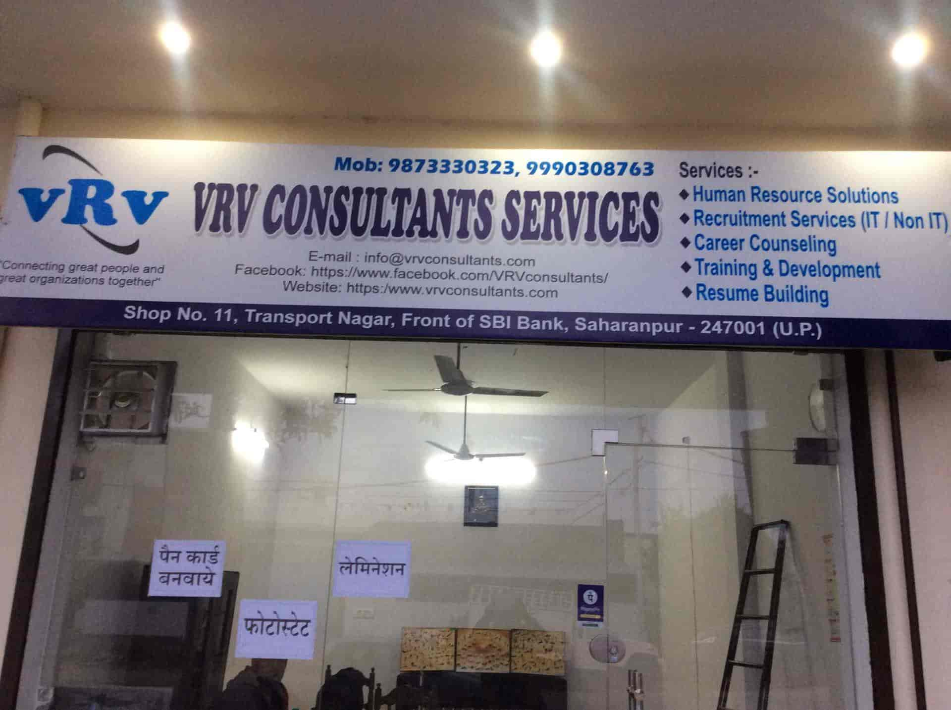 VRV Consultants Services, Nearby Sbi Bank - Placement Services