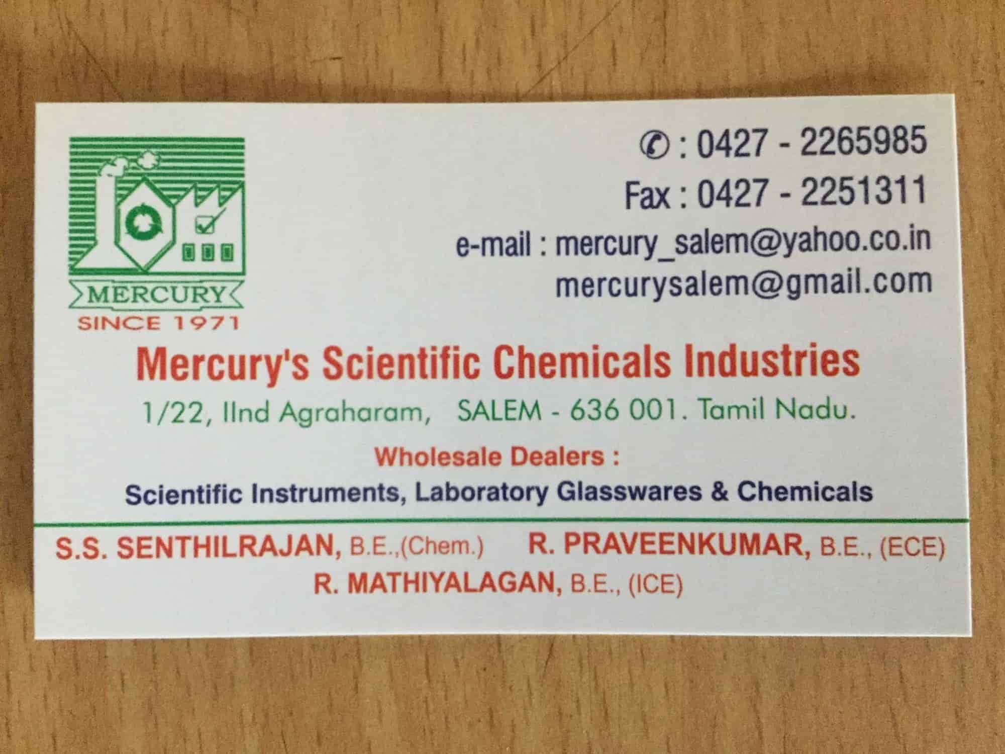 Mercury's Scientific Chemicals Industries, Salem Ho - Laboratory