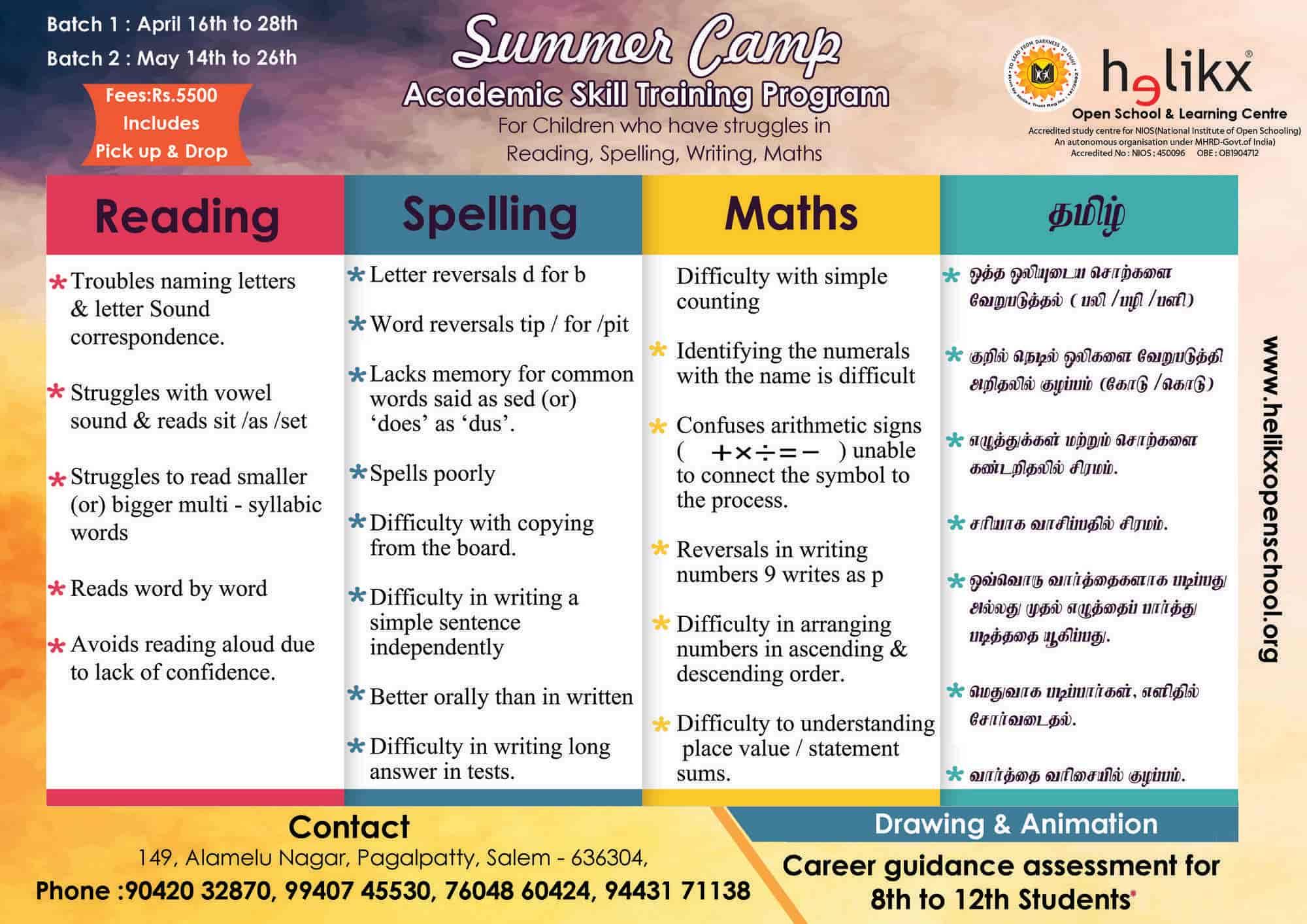 Helikx Open School & Learning Centre, Muthunaickenpatti