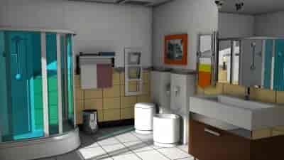 3D Bathroom Design View