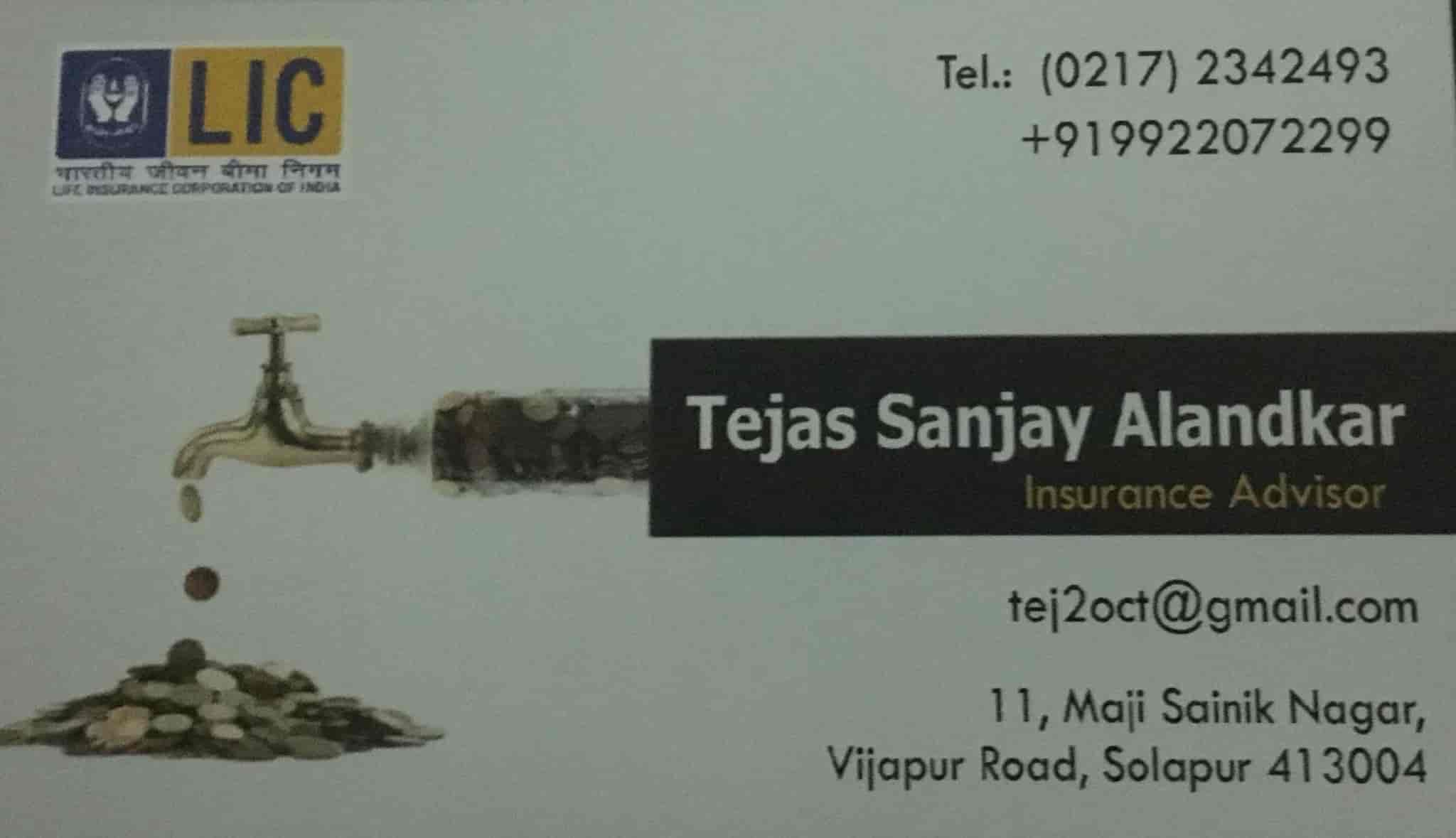 Tejas Sanjay Alandkar Lic Agent Mutual Fund Life Insurance