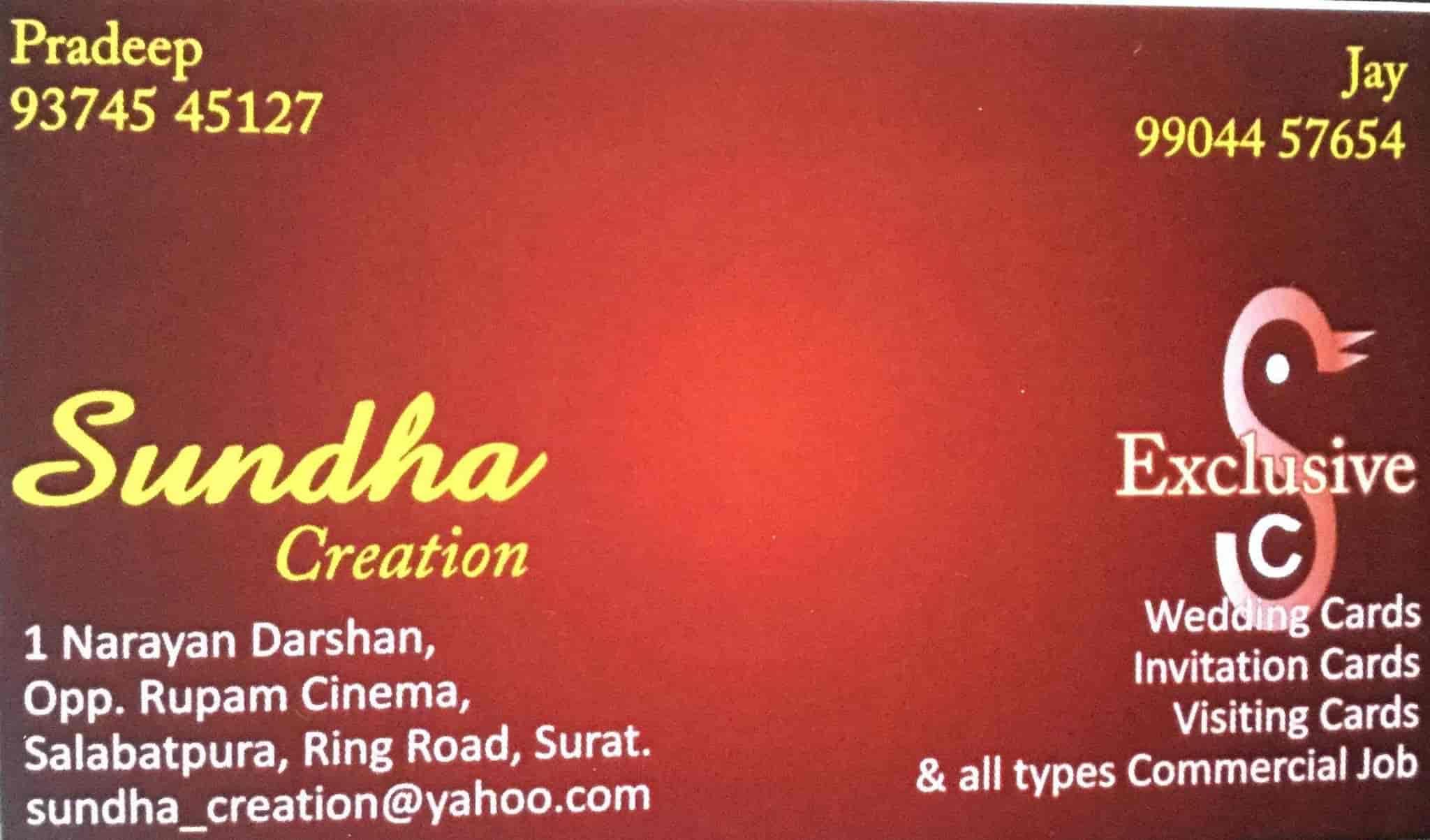 Sundha Creation, Salabatpura - Printing Press in Surat - Justdial