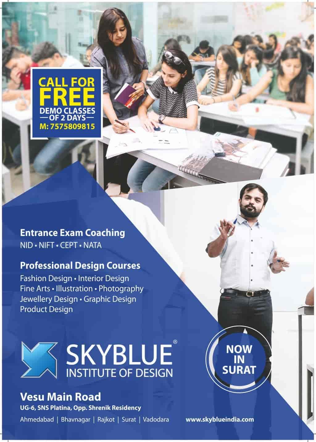 Skyblue Institute Of Design Vesu Tutorials In Surat Justdial