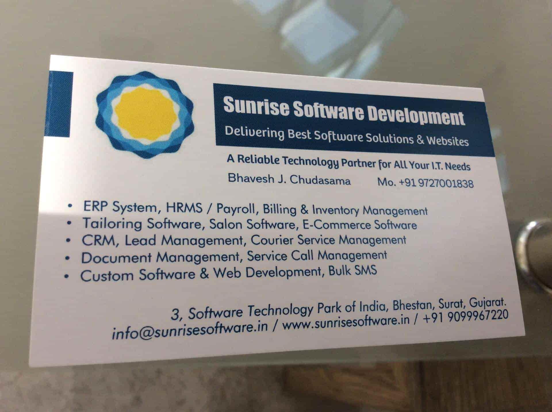 Sunrise Software Development, Bhestan - Software Companies in Surat
