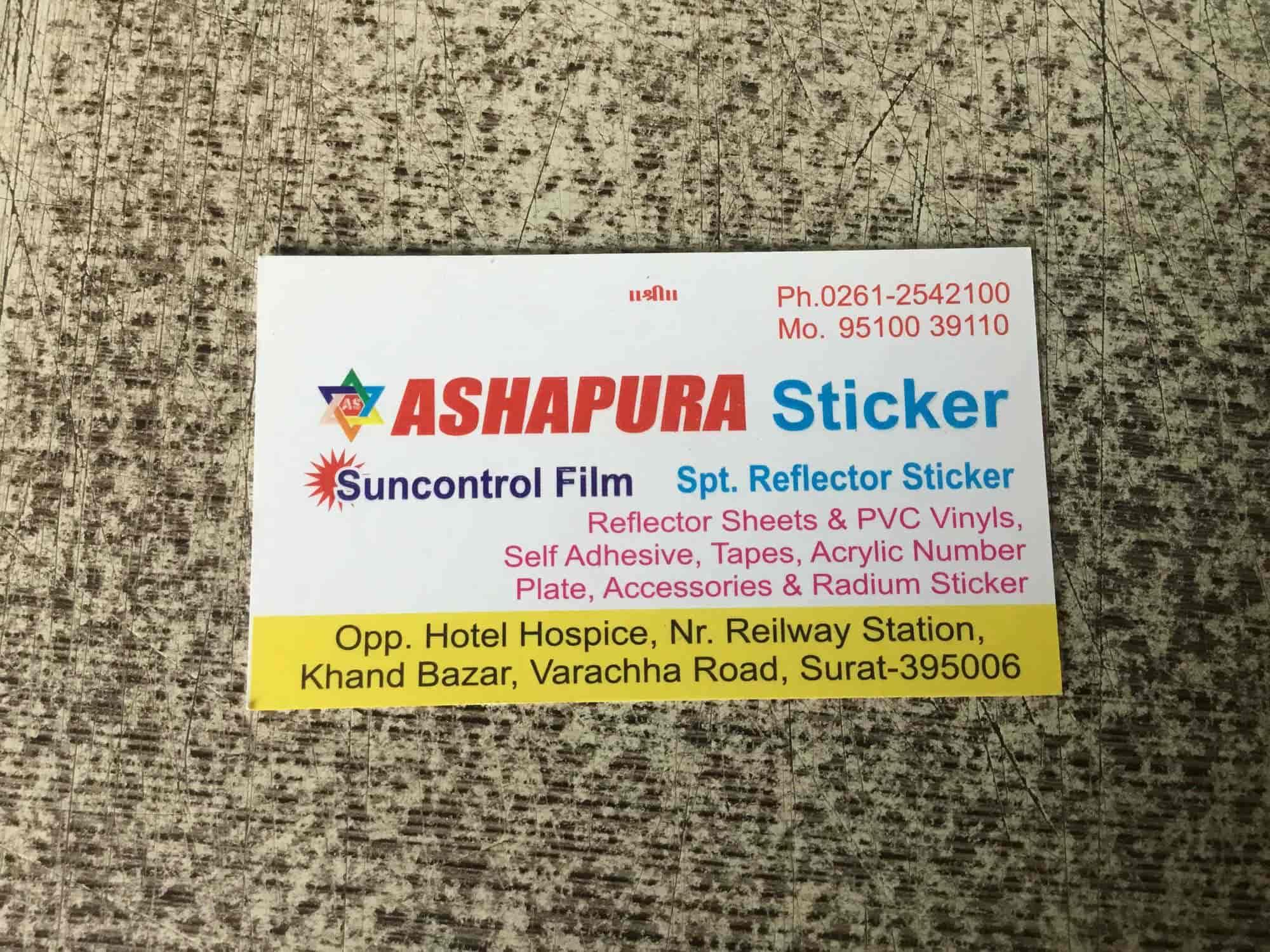 Ashapura sticker photos varachha road surat 2d sticker manufacturers