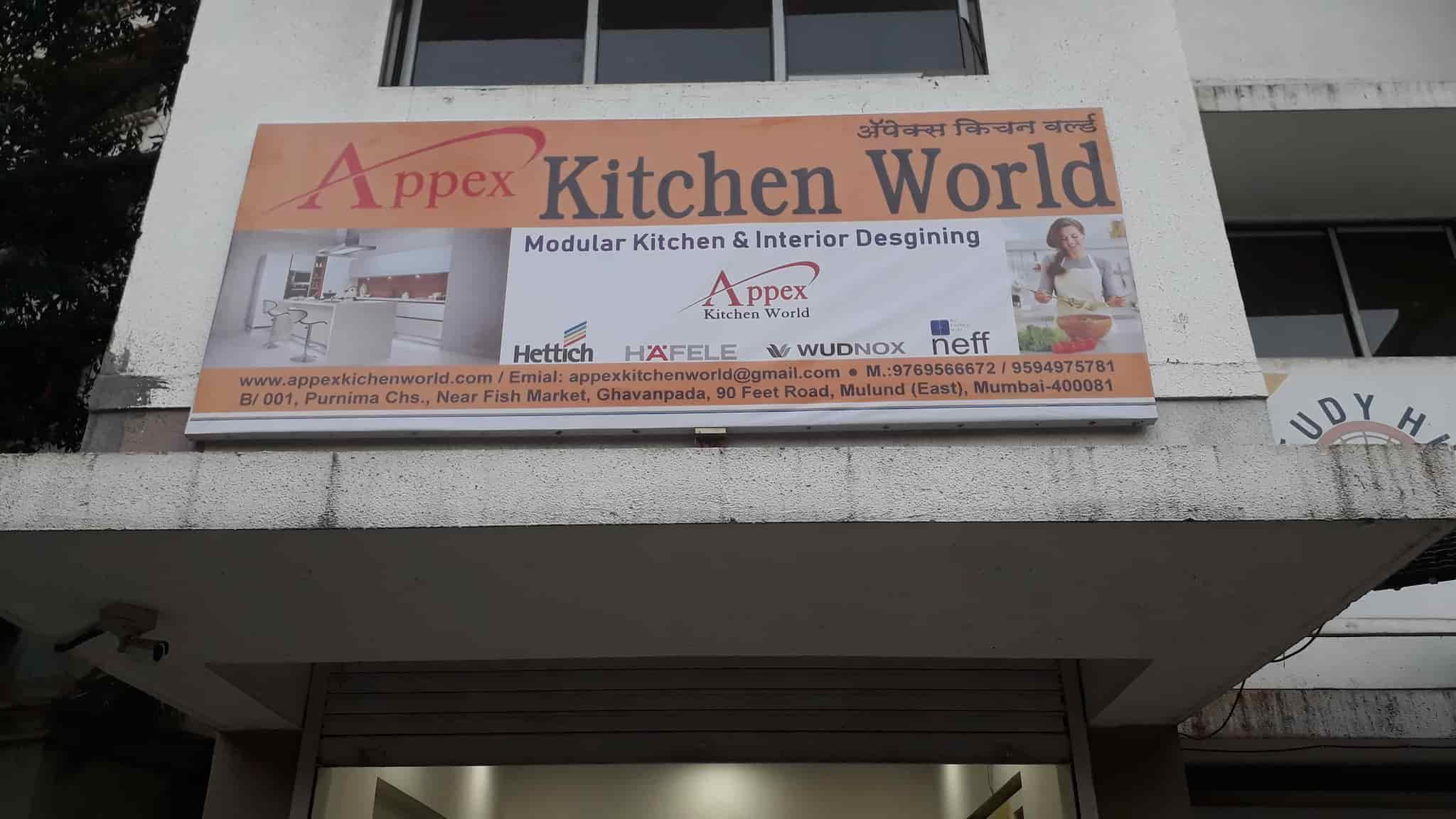 Signboard apex kitchen world photos mulund east mumbai modular kitchen dealers