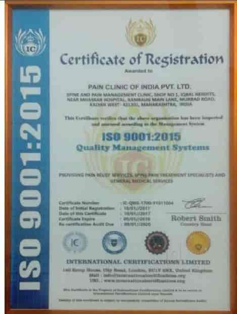 Pain Clinic Of India - Pain Relief Centres - Book