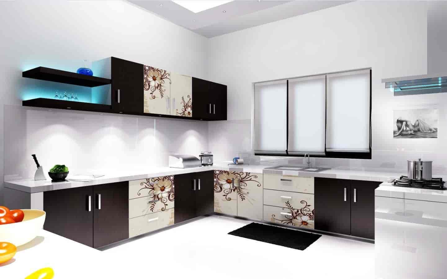 Aesthetic Modular Kitchen Interior Photos Kasarvadavali Mumbai