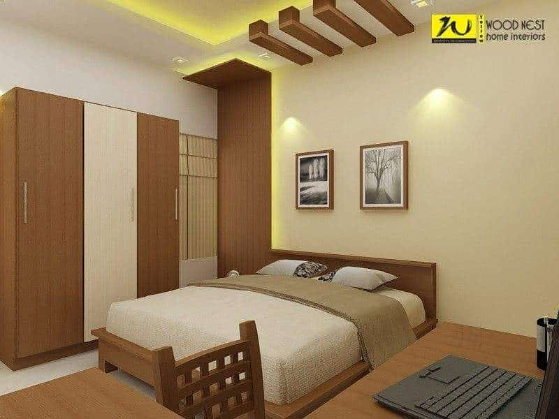 Yellow Wood Nest Home Interiors Photos Olarikkara Thrissur