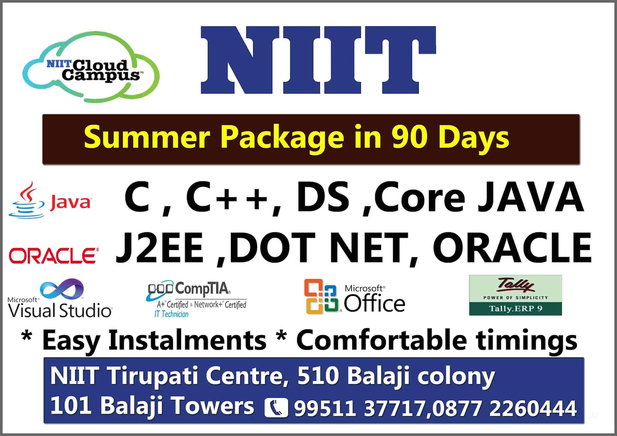 NIIT Ltd, Tirupathi HO - Computer Training Institutes in