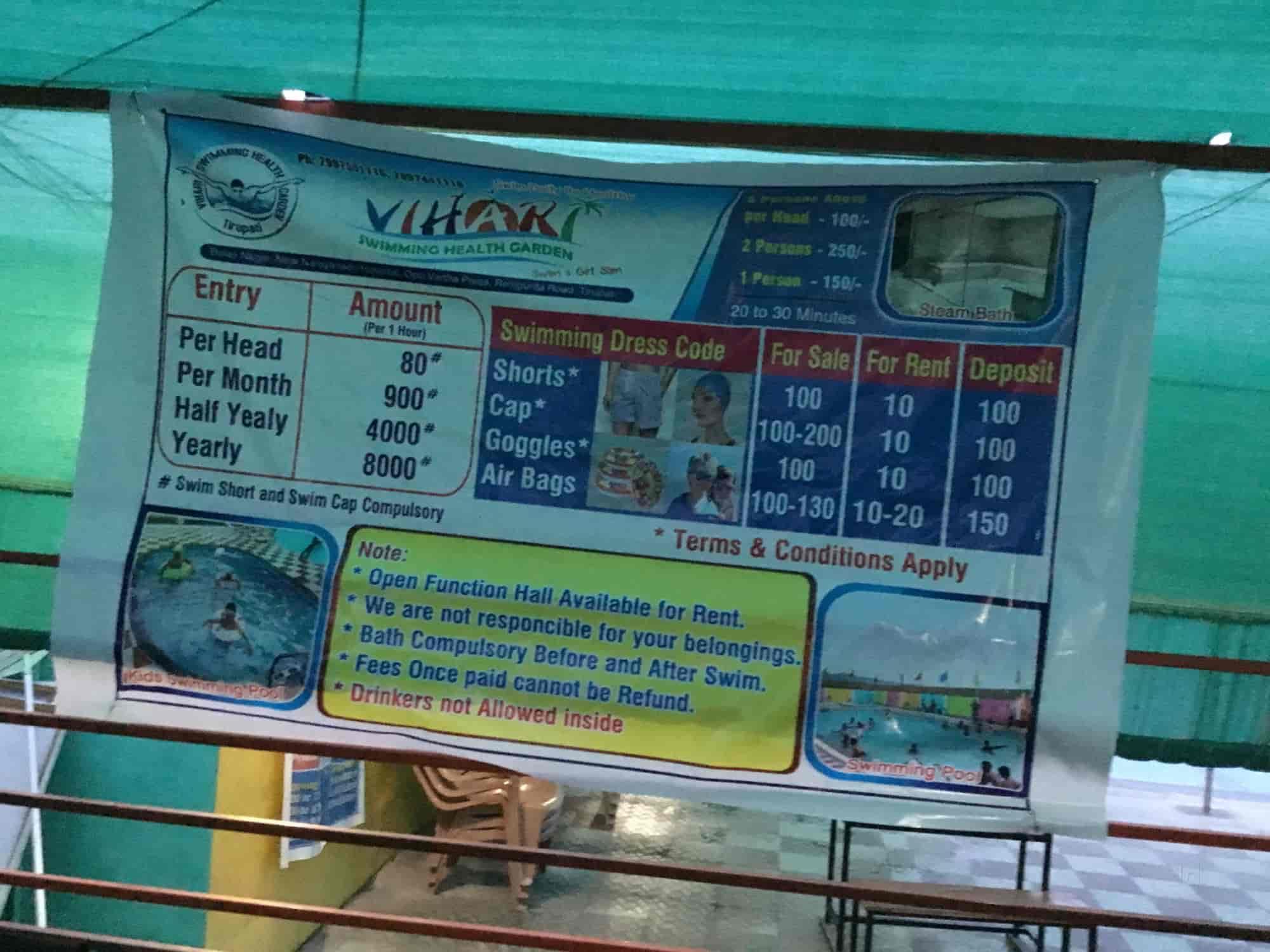 Vihari Swimming Health And Steam Bath   Swimming Pools In Tirupati    Justdial
