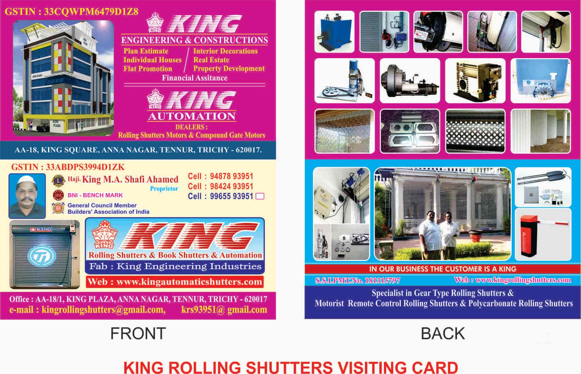 King Automations Tennur Rolling Shutter Manufacturers In Trichy Motor Control Justdial