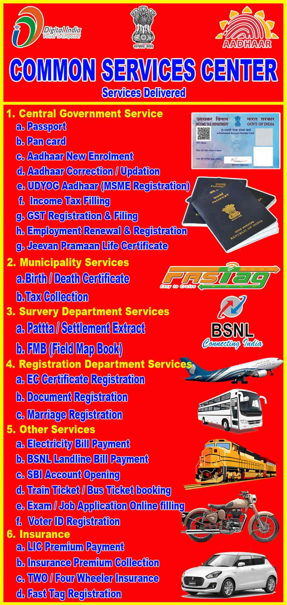 Tamilnadu E Seva - Csc Trichy, Woriyur - Visa Assistance in
