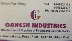Ganesh Industries, Halasinakatte Post - Concrete Block Manufacturers