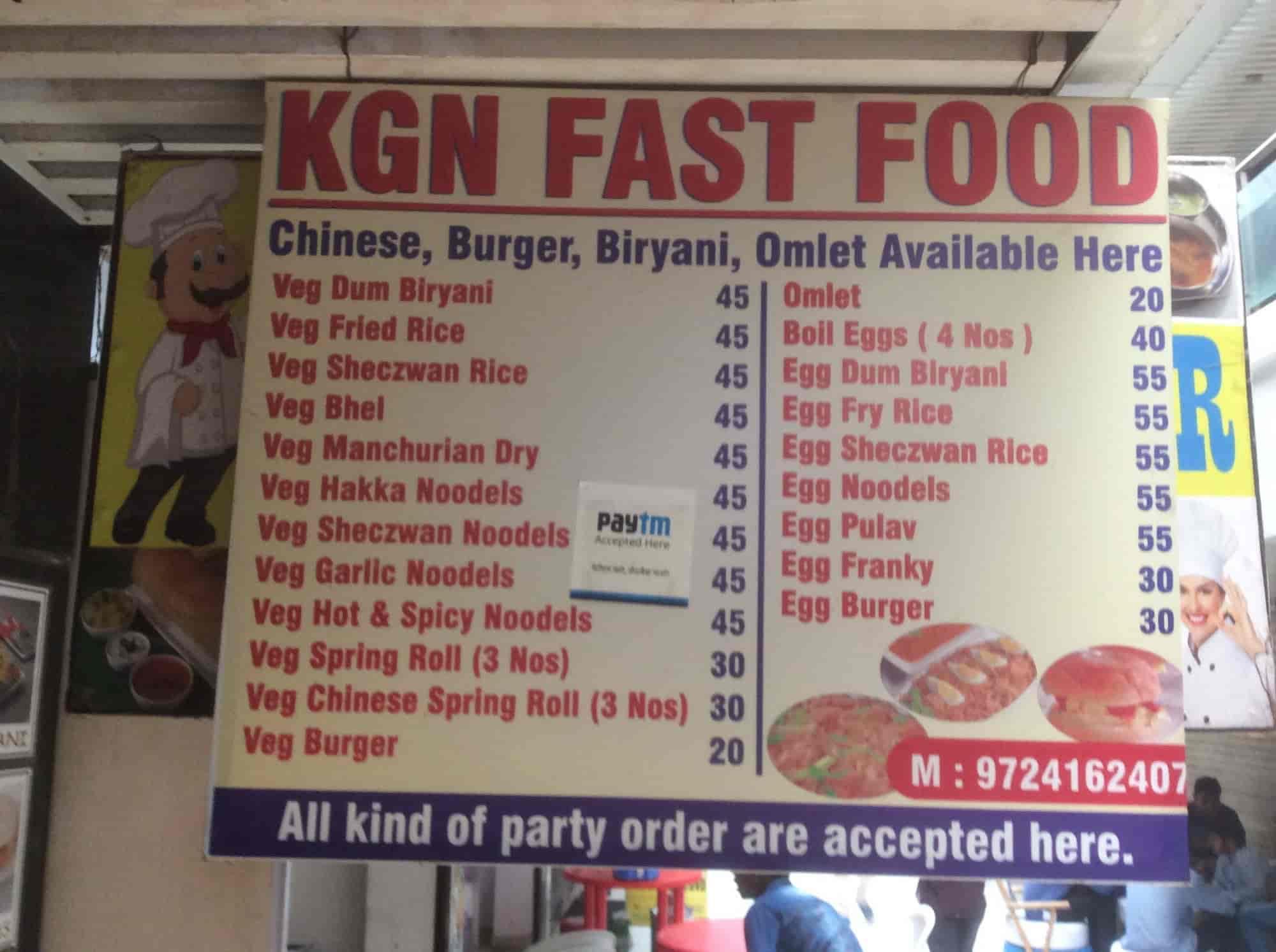 Kgn Fast Food Genda Circle Vadodara Chinese Biryani Mughlai North Indian Fast Food Street Food Cuisine Restaurant Justdial