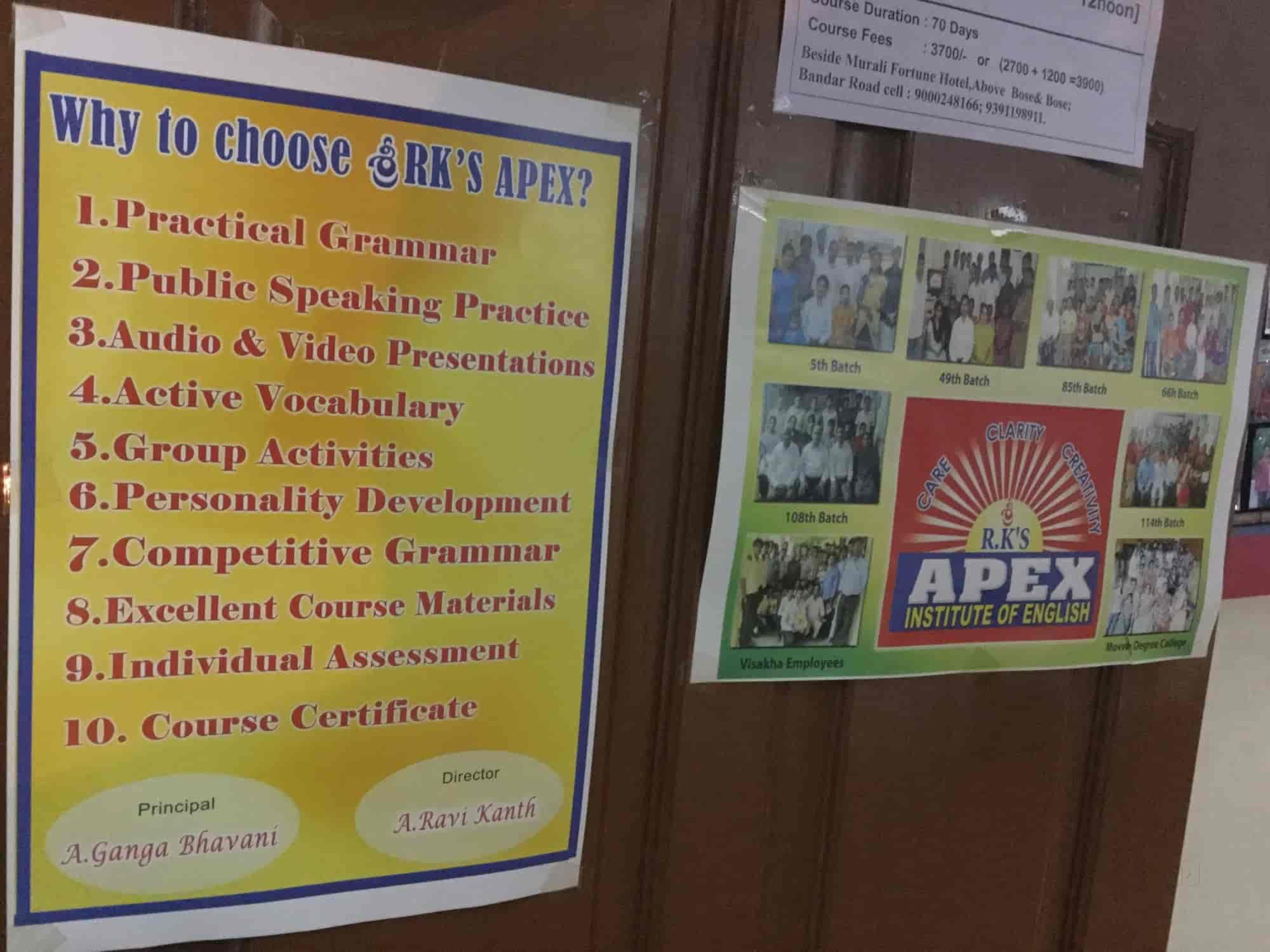 Rks Apex Institute Of English, MG Road - Language Classes
