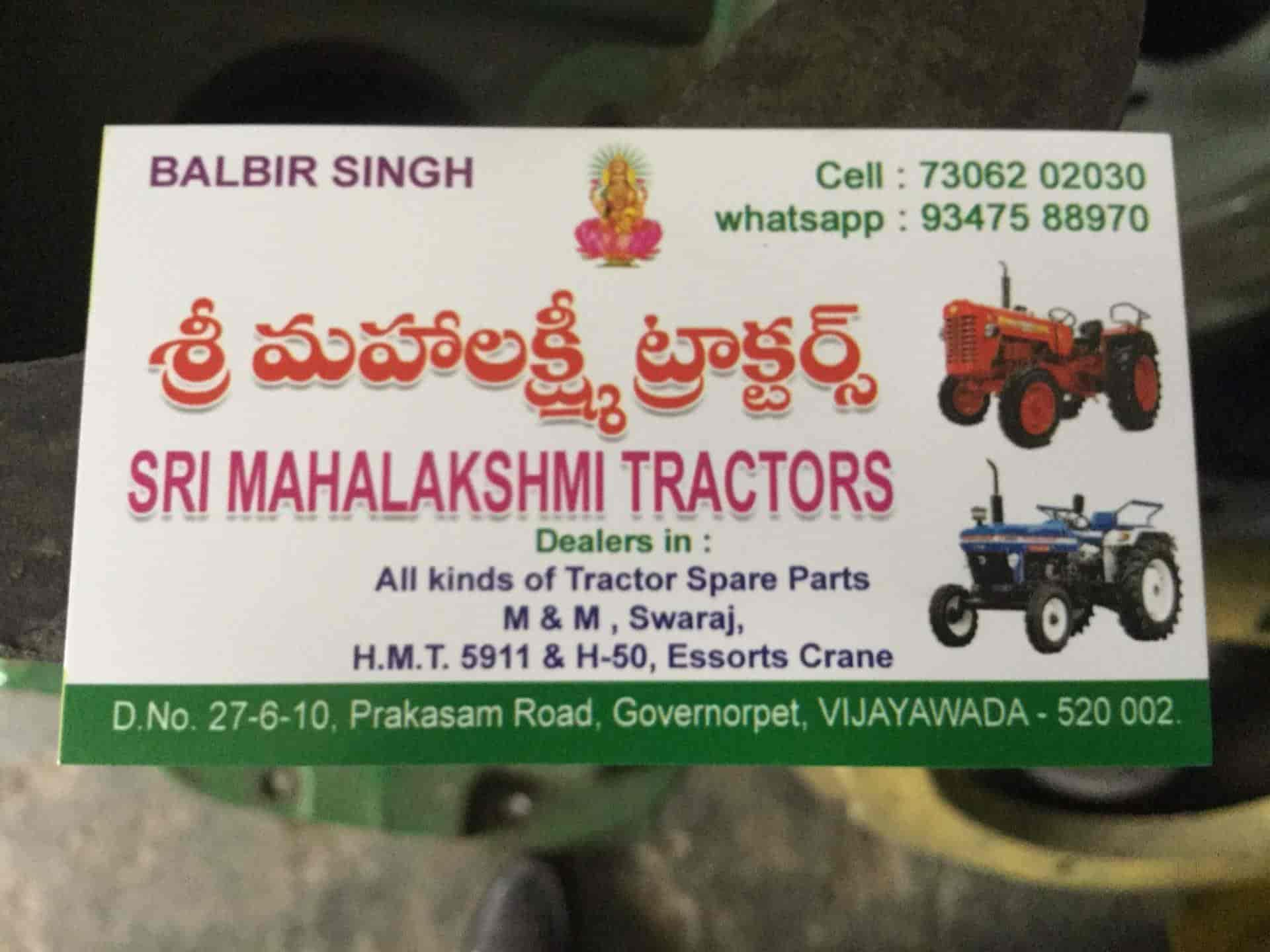 Sri Mahalakshmi Tractors, Suryarao Pet - Tractor Spare Part Dealers