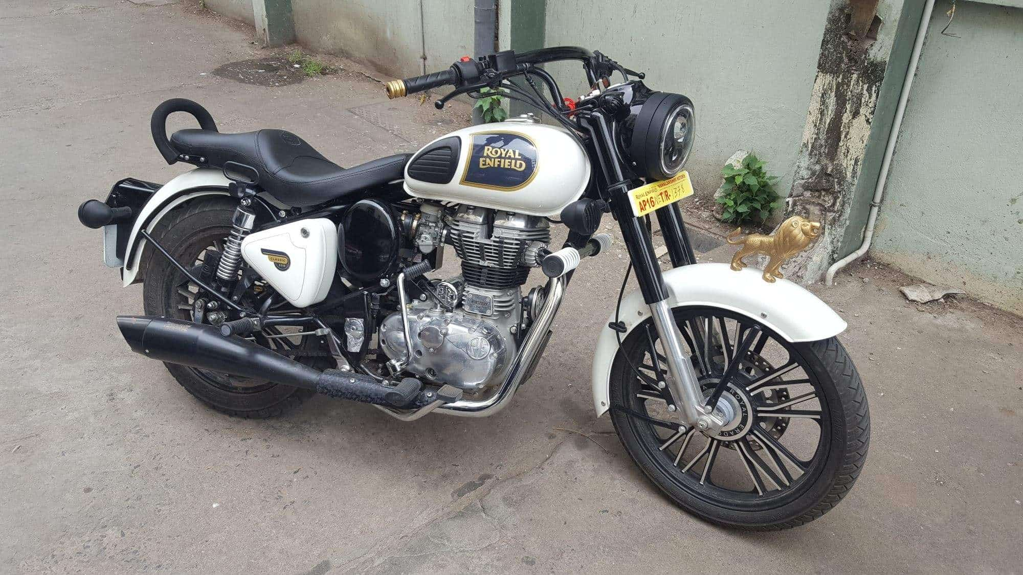 keerthana bullet and bike modified accesories governerpet