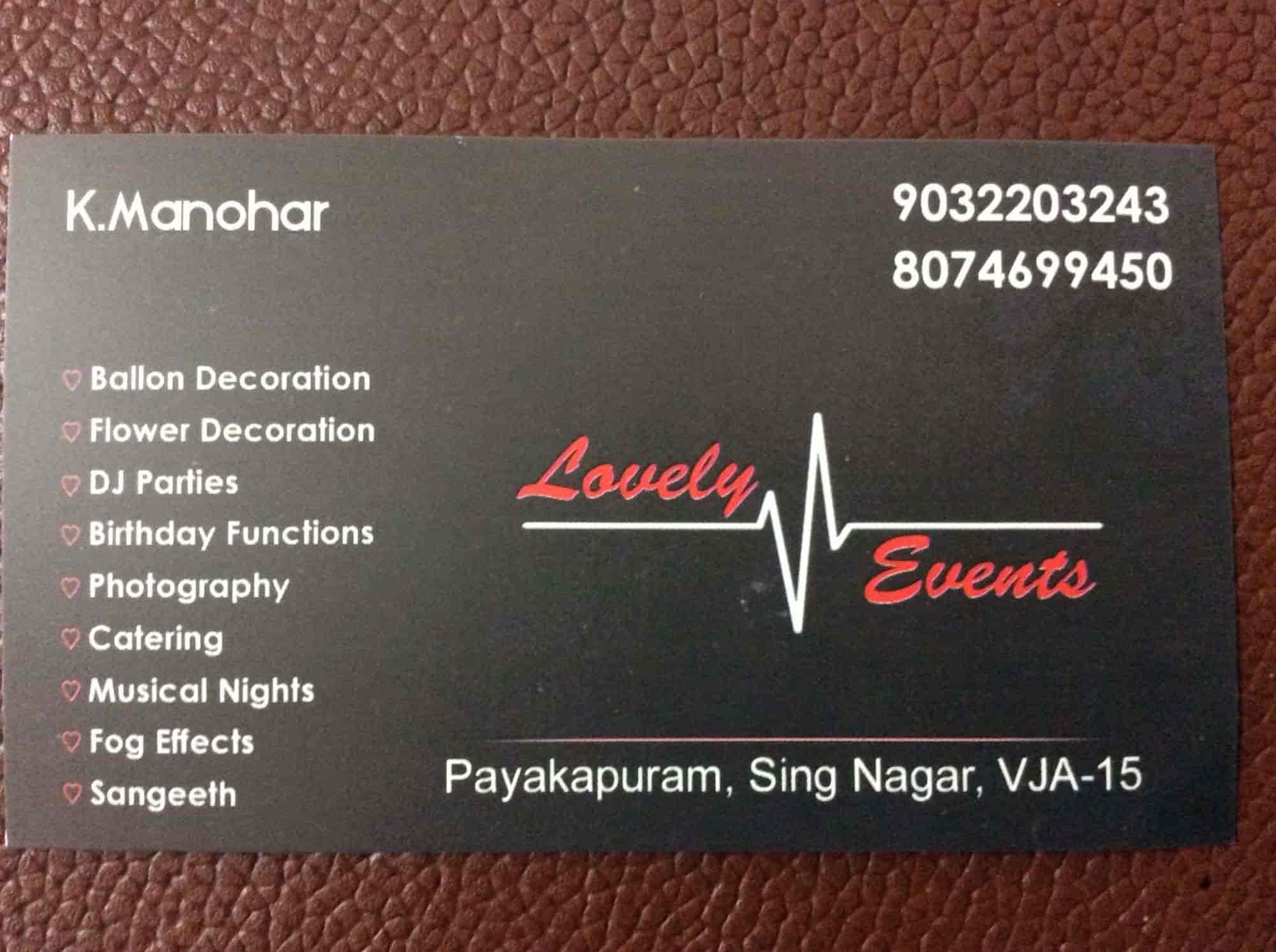 Lovely Events, Payakapuram - Event Organisers in Vijayawada