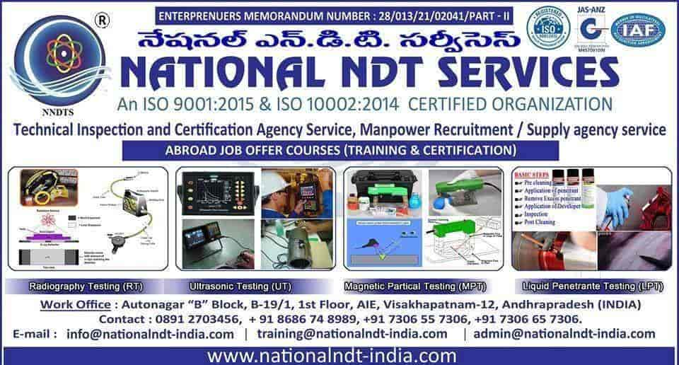 National NDT Training Institute & NDT Manpower Consultancy