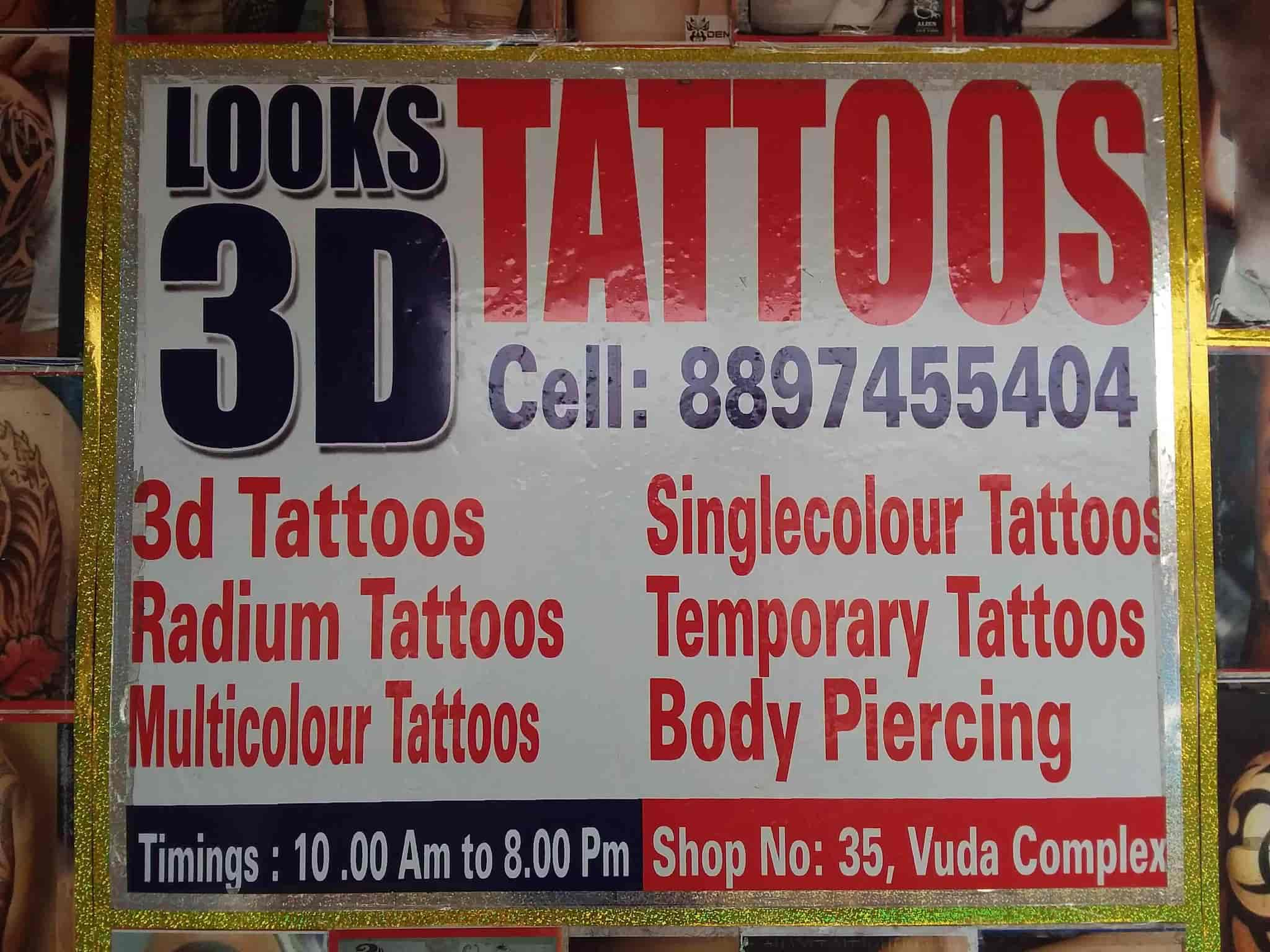 Looks 3d Tattoo Studio Vijaya Bank Opposite Tattoo