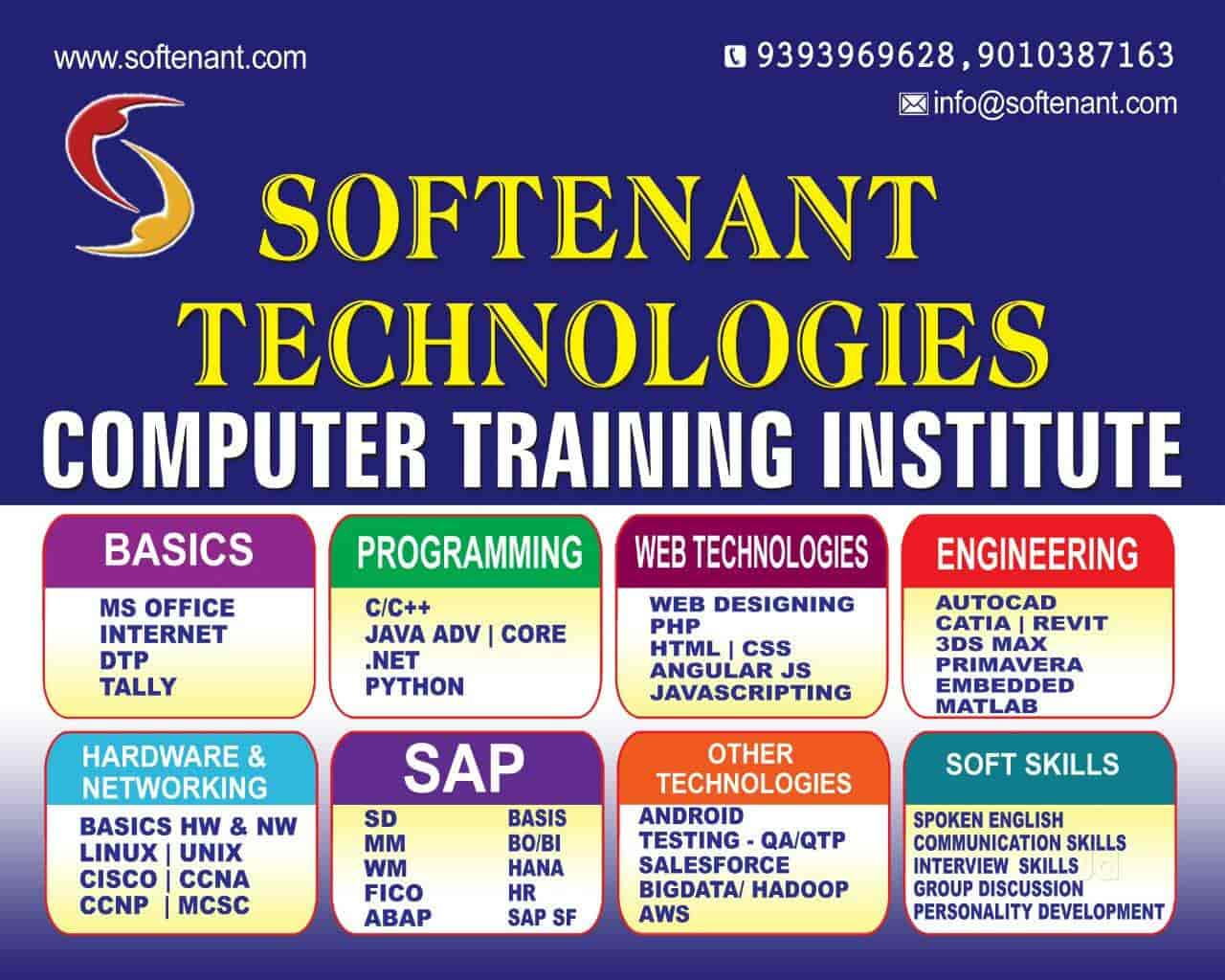 Softenant Technologies, Akkayyapalem - Computer Training