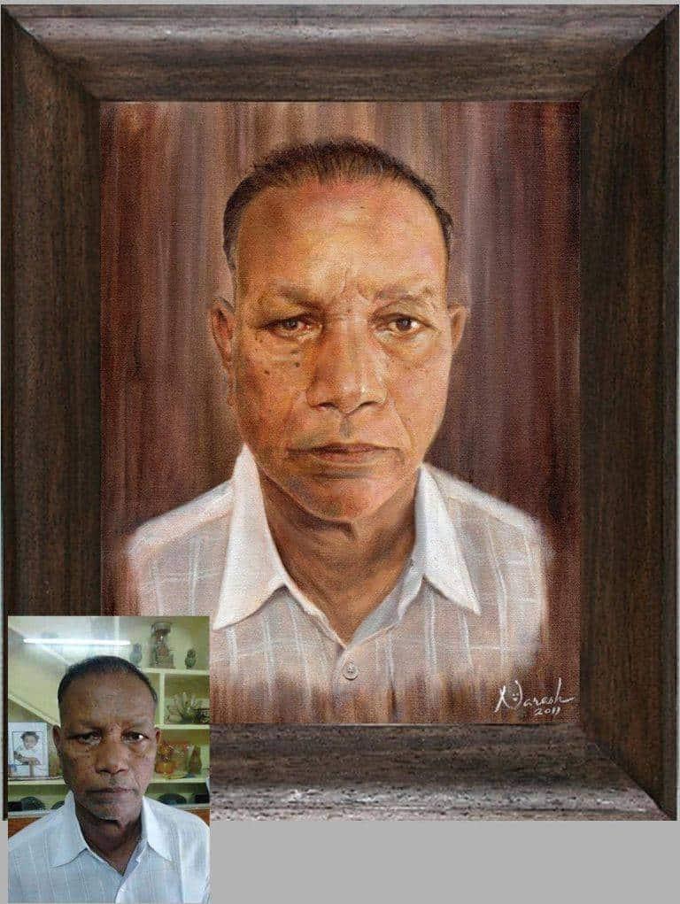 Oil painting on portrait fine art sketch photos visalakshi nagar visakhapatnam portrait
