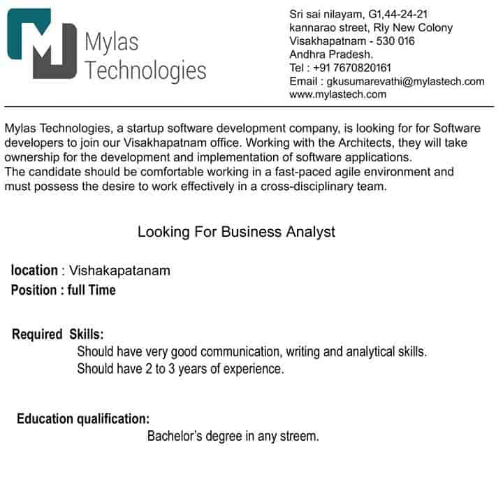 Mylas Information Technologies Pvt Ltd, Asilmetta - Corporate