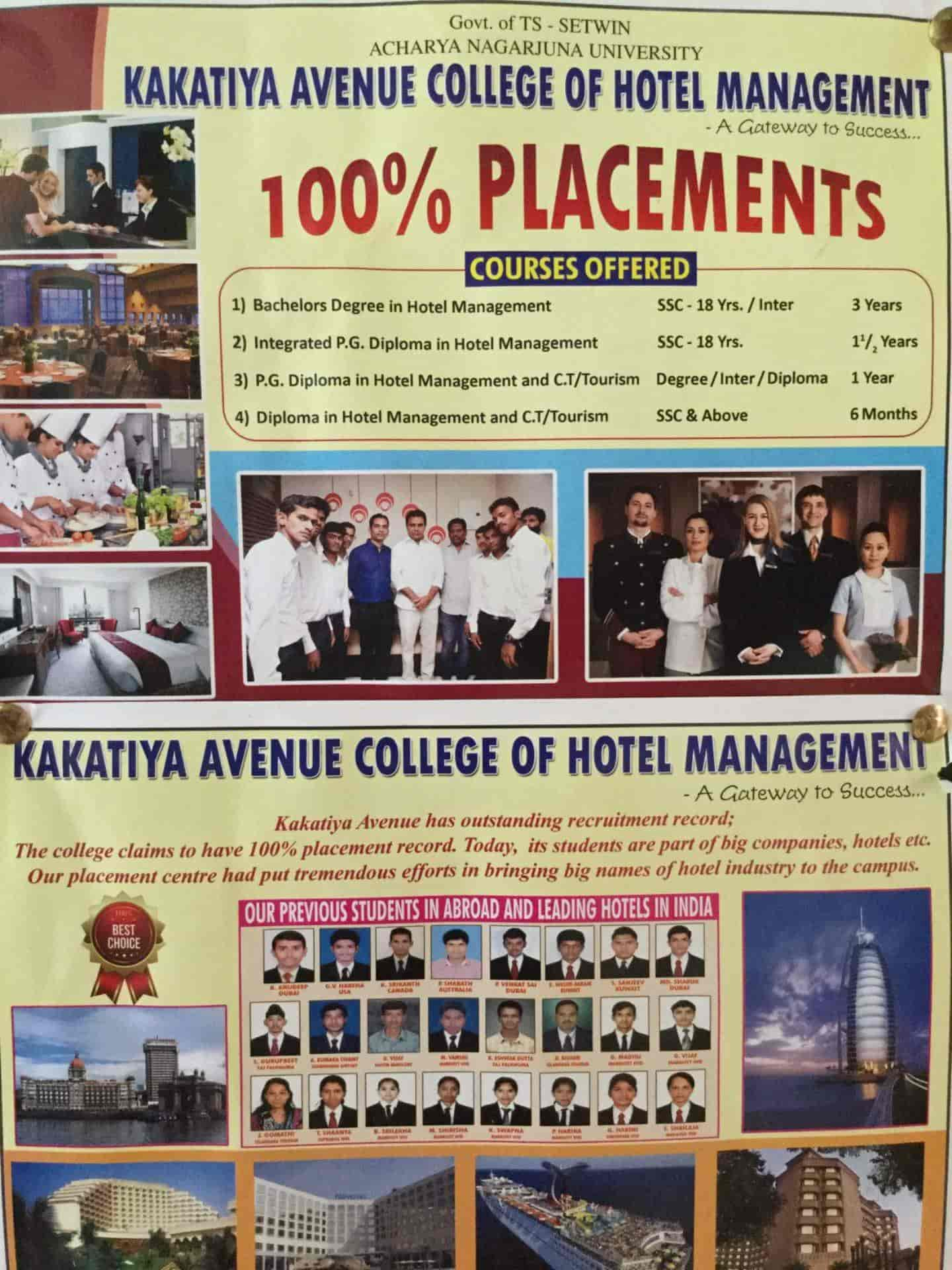 Kakatiya College Of Hotel Management, Hanamkonda