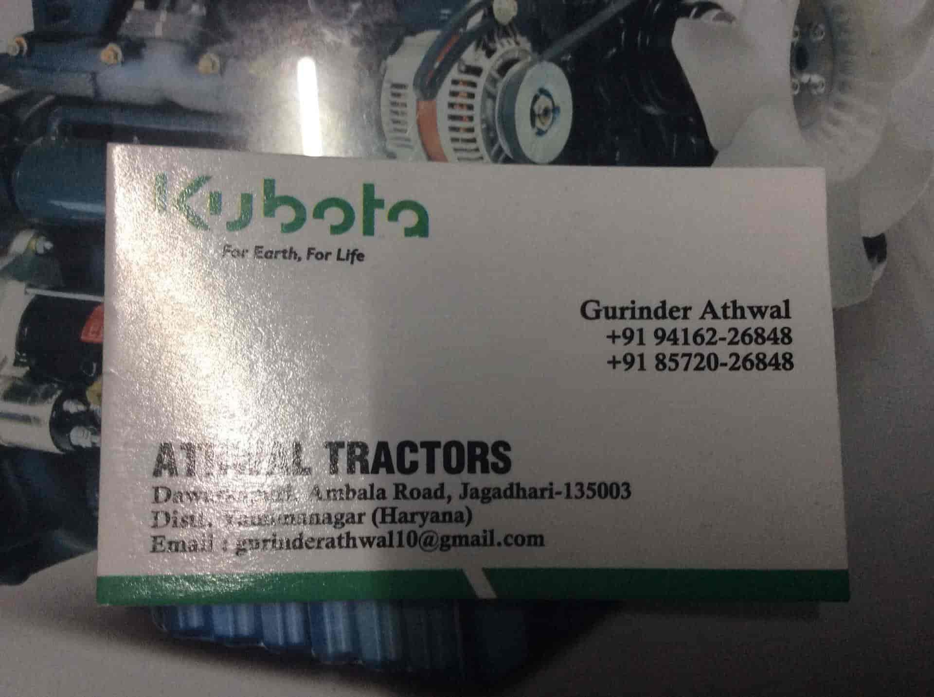 Athwal Tractors ( Kubota ), Jagadhri - Tractor Dealers in