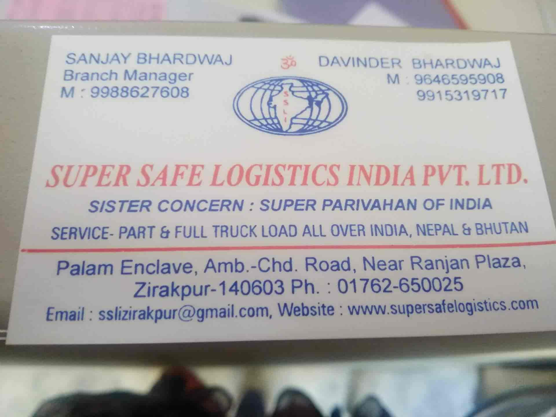 Super Safe Logistics India Pvtltd Photos, Zirakpur HO