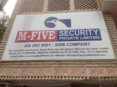 M Five Security Pvt Ltd Mehrauli Security Services In Delhi Justdial