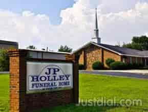 Jp holley funeral home and too